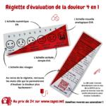 REGLETTE D'EVALUATION DE LA DOULEUR 4 EN 1