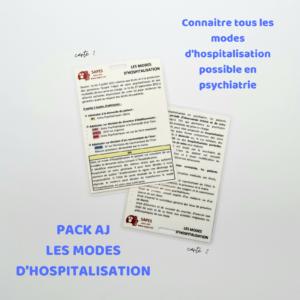 AJ LES MODES D'HOSPITALISATION EN PSYCHIATRIE